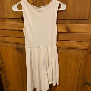 White high low sundress